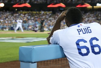 in game two of the National League Division Series at Dodger Stadium on October 10, 2015 in Los Angeles, California.