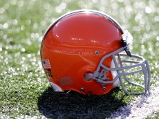 BALTIMORE, MD - DECEMBER 24: The helmet of  Christian Yount #57 of the Cleveland Browns sits on the turf before the start of the Browns and Baltimore Ravens game at M&T Bank Stadium on December 24, 2011 in Baltimore, Maryland.  (Photo by Rob Carr/Getty Images)