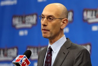 TORONTO, ON - FEBRUARY 13:  NBA Commissioner Adam Silver speaks during a press conference before NBA All-Star Saturday Night at Air Canada Centre on February 13, 2016 in Toronto, Canada.  (Photo by Vaughn Ridley/Getty Images)
