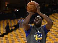 OAKLAND, CA - MAY 26:  Draymond Green #23 of the Golden State Warriors warms up prior to Game Five of the Western Conference Finals against the Oklahoma City Thunder during the 2016 NBA Playoffs at ORACLE Arena on May 26, 2016 in Oakland, California.  (Photo by Thearon W. Henderson/Getty Images)