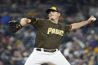 SAN DIEGO, CALIFORNIA - MAY 6:  Drew Pomeranz #13 of the San Diego Padres pitches during the fourth inning of a baseball game against the New York Mets at PETCO Park on May 6, 2016 in San Diego, California.  (Photo by Denis Poroy/Getty Images)