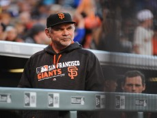DENVER, CO - MAY 27: Manager Bruce Bochy of the San Francisco Giants looks on prior to the game against the Colorado Rockies at Coors Field on May 27, 2016 in Denver, Colorado. (Photo by Bart Young/Getty Images)