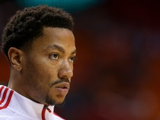 MIAMI, FL - DECEMBER 14:  Derrick Rose #1 of the Chicago Bulls looks on during a game against the Miami Heat at American Airlines Arena on December 14, 2014 in Miami, Florida. NOTE TO USER: User expressly acknowledges and agrees that, by downloading and/or using this photograph, user is consenting to the terms and conditions of the Getty Images License Agreement. Mandatory copyright notice:  (Photo by Mike Ehrmann/Getty Images)