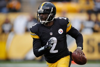 PITTSBURGH, PA - OCTOBER 18:  Mike Vick #2 of the Pittsburgh Steelers looks to pass during the 2nd half of the game against the Arizona Cardinals at Heinz Field on October 18, 2015 in Pittsburgh, Pennsylvania.  (Photo by Gregory Shamus/Getty Images)