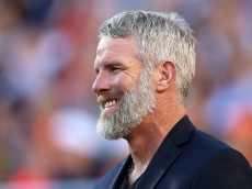SANTA CLARA, CA - FEBRUARY 07:  Former NFL player and 2016 NFL Hall of Fame Inductee Brett Favre looks on prior to Super Bowl 50 between the Denver Broncos and the Carolina Panthers at Levi's Stadium on February 7, 2016 in Santa Clara, California.  (Photo by Patrick Smith/Getty Images)