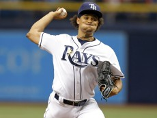 ST. PETERSBURG, FL - JUNE 11: Chris Archer #22 of the Tampa Bay Rays throws  during the first inning of a game against the Houston Astros at Tropicana Field on June 11, 2016 in St. Petersburg, Florida. (Photo by Mike Carlson/Getty Images)