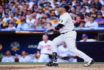 SAN DIEGO, CA - JULY 12:  Carlos Beltran #36 of the New York Yankees bats during the 87th Annual MLB All-Star Game at PETCO Park on July 12, 2016 in San Diego, California.  (Photo by Harry How/Getty Images)