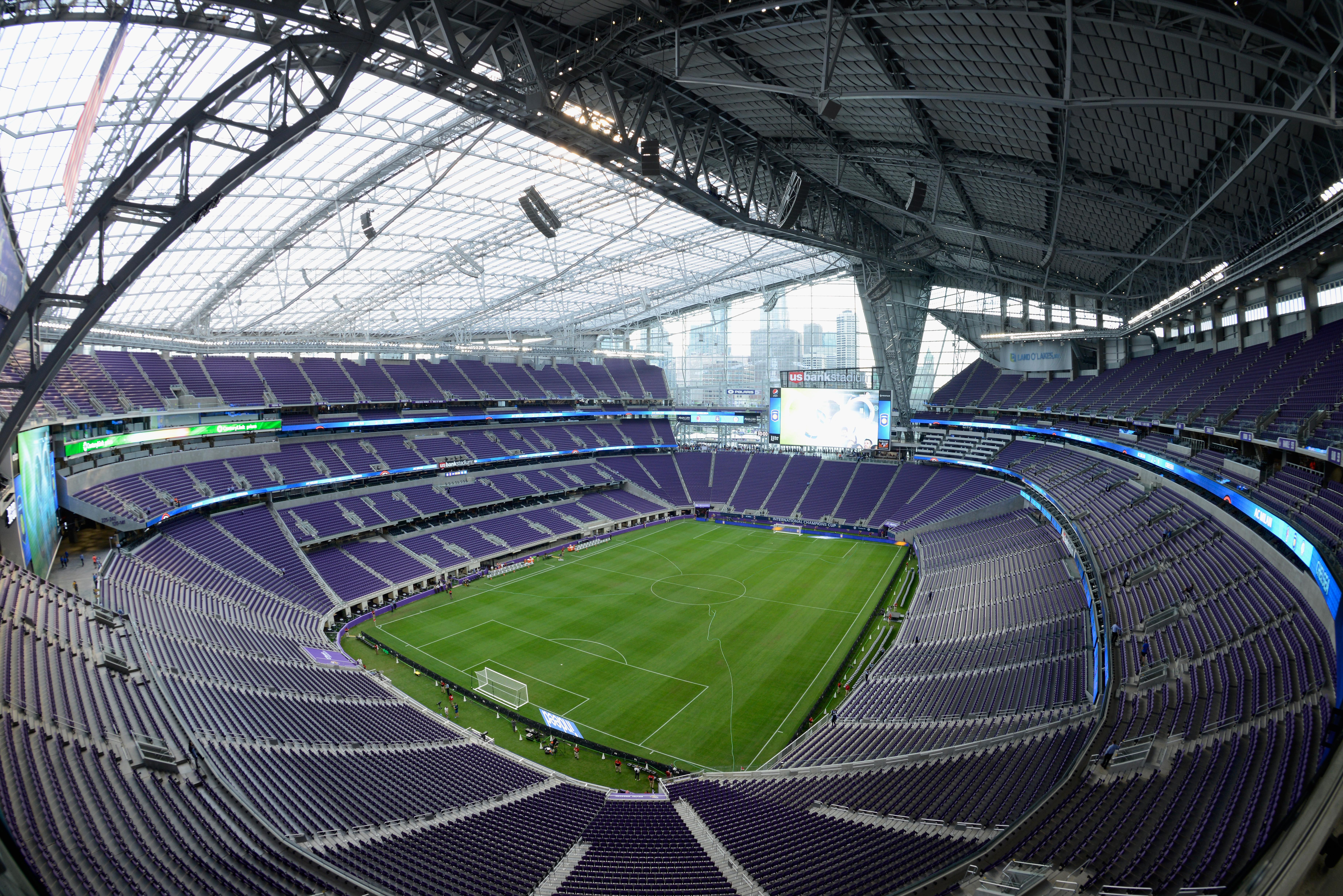 MINNEAPOLIS, MN - AUGUST 3: A general view of U.S. Bank Stadium before the International Champions Cup match between AC Milan v Chelsea on August 3, 2016 in Minneapolis, Minnesota. (Photo by Hannah Foslien/Getty Images)