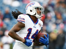 FOXBORO, MA - DECEMBER 28:  Sammy Watkins #14 of the Buffalo Bills warms up before a game against the New England Patriots at Gillette Stadium on December 28, 2014 in Foxboro, Massachusetts.  (Photo by Jared Wickerham/Getty Images)