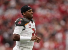 GLENDALE, AZ - SEPTEMBER 18:  Quarterback Jameis Winston #3 of the Tampa Bay Buccaneers during the NFL game against the Arizona Cardinals at the University of Phoenix Stadium on September 18, 2016 in Glendale, Arizona. The Cardinals defeated the Buccaneers  40-7.  (Photo by Christian Petersen/Getty Images)