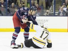 NHL: NOV 21 Bruins at Blue Jackets