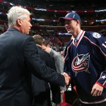 SUNRISE, FL - JUNE 27:  Paul Bittner reacts after being selected 38th overall by the Columbus Blue Jackets during the 2015 NHL Draft at BB&T Center on June 27, 2015 in Sunrise, Florida.  (Photo by Bruce Bennett/Getty Images)