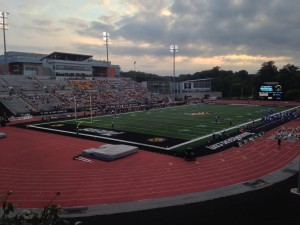 Johnny Unitas Stadium, home of the Towson Tigers