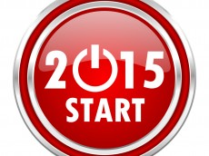 new year 2015 red glossy icon