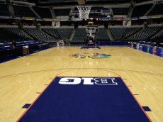 INDIANAPOLIS, IN - MARCH 11:  A general interior view of the empty court and stands during the quarterfinals of the 2011 Big Ten Men's Basketball Tournament at Conseco Fieldhouse on March 11, 2011 in Indianapolis, Indiana.  (Photo by Andy Lyons/Getty Images)