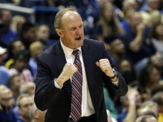 MILWAUKEE, WI - NOVEMBER 16: Head Coach Thad Matta of the Ohio State Buckeyes reacts against the Marquette Golden Eagles during a basketball game at BMO Harris Bradley Center on November 16, 2013 in Milwaukee, Wisconsin.  (Photo by Jeffrey Phelps/Getty Images)