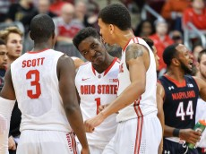 COLUMBUS, OH - JANUARY 29:  JaeSean Tate #1 of the Ohio State Buckeyes in action against the Maryland Terrapins on January 29, 2015 at Value City Arena in Columbus, Ohio.  (Photo by Jamie Sabau/Getty Images)