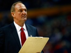 BUFFALO, NY - MARCH 20: Head coach Thad Matta of the Ohio State Buckeyes looks on during the second round of the 2014 NCAA Men's Basketball Tournament against the Dayton Flyers at the First Niagara Center on March 20, 2014 in Buffalo, New York.  (Photo by Jared Wickerham/Getty Images)