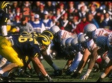 25 Nov 1995:  General view of a game between the Ohio State Buckeyes and the Michigan Wolverines at Michigan Stadium in Ann Arbor, Michigan.  Michigan won the game, 31-23. Mandatory Credit: Jonathan Daniel  /Allsport