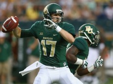 WACO, TX - SEPTEMBER 06:  Seth Russell #17 of the Baylor Bears throws against the Northwestern State Demons at McLane Stadium on September 6, 2014 in Waco, Texas.  (Photo by Ronald Martinez/Getty Images)