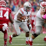 BLOOMINGTON, IN - OCTOBER 03:  Ezekiel Elliott #15 of the Ohio State Buckeyes runs with the ball against the Indiana Hoosiers at Memorial Stadium on October 3, 2015 in Bloomington, Indiana.  (Photo by Andy Lyons/Getty Images)