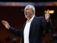 MIAMI, FL - NOVEMBER 27: Head coach Thad Matta of the Ohio State Buckeyes reacts to a foul call during first half action against the Memphis Tigers on November 27, 2015 at the American Airlines Arena in Miami, Florida. (Photo by Joel Auerbach/Getty Images)