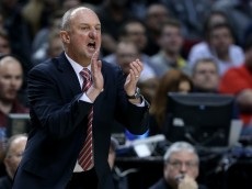 PORTLAND, OR - MARCH 19:  Head coach Thad Matta of Ohio State Buckeyes looks on as the Ohio State Buckeyes play the Virginia Commonwealth Rams in the first half during the second round of the 2015 NCAA Men's Basketball Tournament at Moda Center on March 19, 2015 in Portland, Oregon.  (Photo by Stephen Dunn/Getty Images)