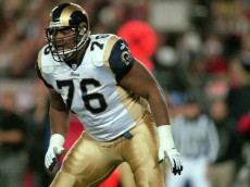 18 Dec 2000:  Orlando Pace #76 of the St. Louis Rams is ready on the field during the game against the Tampa Bay Buccaneers at the Raymond James Stadium in Tampa, Florida. The Buccaneers defeated the Rams 38-35.Mandatory Credit: Chris Livingston  /Allsport