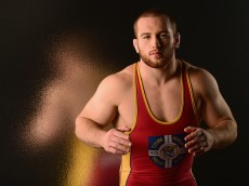 LOS ANGELES, CA - NOVEMBER 17:  Wrestler Kyle Snyder poses for a portrait at the USOC Rio Olympics Shoot at Quixote Studios on November 17, 2015 in Los Angeles, California.  (Photo by Harry How/Getty Images)