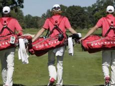 Ohio State men's golf team, individual, and action photos Monday, Sept. 14, 2015, in Columbus, Ohio. (Photo/Jay LaPrete)