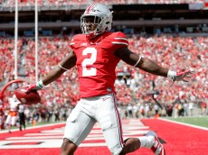 COLUMBUS, OH - SEPTEMBER 3:  Dontre Wilson #2 of the Ohio State Buckeyes celebrates after scoring a touchdown during the first quarter of the game against the Bowling Green Falcons on September 3, 2016 at Ohio Stadium in Columbus, Ohio. (Photo by Kirk Irwin/Getty Images)