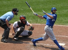 Kansas City Royals first baseman Eric Hosmer (35)