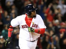BOSTON, MA - APRIL 29:  David Ortiz  #34 of the Boston Red Sox rounds the bases after hitting a two-run home run in the eighth inning during the game against the New York Yankees at Fenway Park on April 29, 2016 in Boston, Massachusetts.  (Photo by Adam Glanzman/Getty Images)