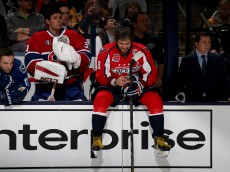 COLUMBUS, OH - JANUARY 24: Carey Price #31 of the Montreal Canadiens and Team Foligno and Alex Ovechkin #8 of the Washington Capitals and Team Foligno look on during the Gatorade NHL Skills Challenge Relay event of the 2015 Honda NHL All-Star Skills Competition at Nationwide Arena on January 24, 2015 in Columbus, Ohio. (Photo by Bruce Bennett/Getty Images)