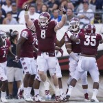 PHILADELPHIA, PA - SEPTEMBER 5: Tyler Matakevich #8 of the Temple Owls reacts after an interception against the Penn State Nittany Lions on September 5, 2015 at Lincoln Financial Field in Philadelphia, Pennsylvania. The Owls defeated the Nittany Lions 27-10 (Photo by Mitchell Leff/Getty Images)