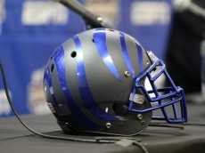 30 December 2015:    Memphis Helmet at the Birmingham Bowl between the Auburn Tigers and the Memphis Tigers.   Auburn defeated Memphis by the score of 31-10 at Legion Field in Birmingham, Alabama.  (Photo by Michael Wade/Icon Sportswire)