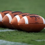 CHARLOTTE, NC - SEPTEMBER 03:  A general view of footballs on the ground prior to kickoff between the East Carolina Pirates and South Carolina Gamecocks during their game at Bank of America Stadium on September 3, 2011 in Charlotte, North Carolina.  (Photo by Streeter Lecka/Getty Images)