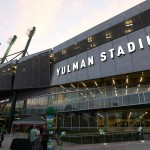 NEW ORLEANS, LA - SEPTEMBER 03:  An exterior view of Yulman Stadium on September 3, 2015 in New Orleans, Louisiana.  (Photo by Chris Graythen/Getty Images)