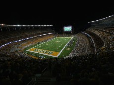 WACO, TX - AUGUST 31:  A general view of play between the Southern Methodist Mustangs and the Baylor Bears at McLane Stadium on August 31, 2014 in Waco, Texas.  (Photo by Ronald Martinez/Getty Images)