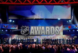 LAS VEGAS, NV - JUNE 22:  The NHL award nominees are seen onstage during the 2016 NHL Awards at The Joint inside the Hard Rock Hotel & Casino on June 22, 2016 in Las Vegas, Nevada.  (Photo by Ethan Miller/Getty Images)