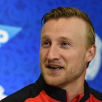 TORONTO, ON - SEPTEMBER 15: Steven Stamkos of Team Canada answer questions during Media day at the World Cup of Hockey 2016 at Air Canada Centre on September 15, 2016 in Toronto, Ontario, Canada. (Photo by  Minas Panagiotakis/Getty Images)
