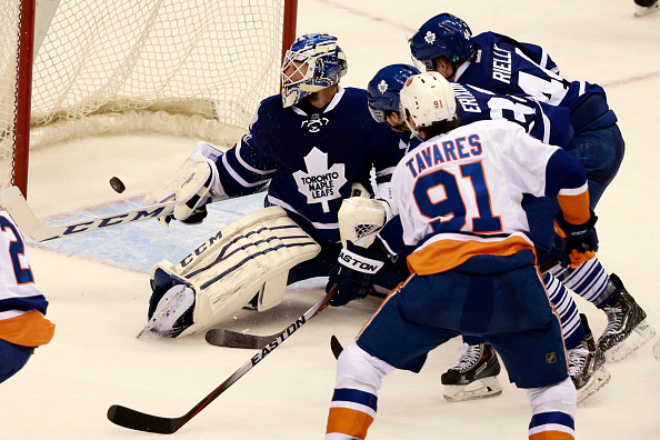 Islanders Travares scores overtime goal against Maple Leafs