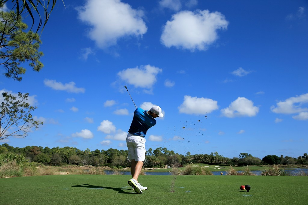 WEST PALM BEACH, FL - MARCH 09:  Rory McIlroy of Northern Ireland during the Ernie Els Els for Autism pro-am on March 9, 2015 in West Palm Beach, Florida.  (Photo by David Cannon/Getty Images)