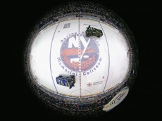 UNIONDALE, NY - APRIL 11: Two ice resurfacing machines do their job between the first and second periods of the game between the New York Islanders and the Columbus Blue Jackets at the Nassau Veterans Memorial Coliseum on April 11, 2015 in Uniondale, New York. This is the last regular season game to be played in the building as it stands now. The team will relocate to the Barclay's Center in the Brooklyn borough of New York City starting in the 2015-16 season.  (Photo by Bruce Bennett/Getty Images)