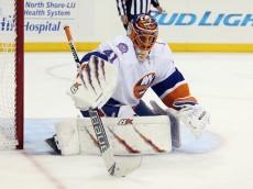 NEW YORK, NY - OCTOBER 14:  Jaroslav Halak #41 of the New York Islanders skates against the New York Rangers at Madison Square Garden on October 14, 2014 in New York City.  (Photo by Bruce Bennett/Getty Images)