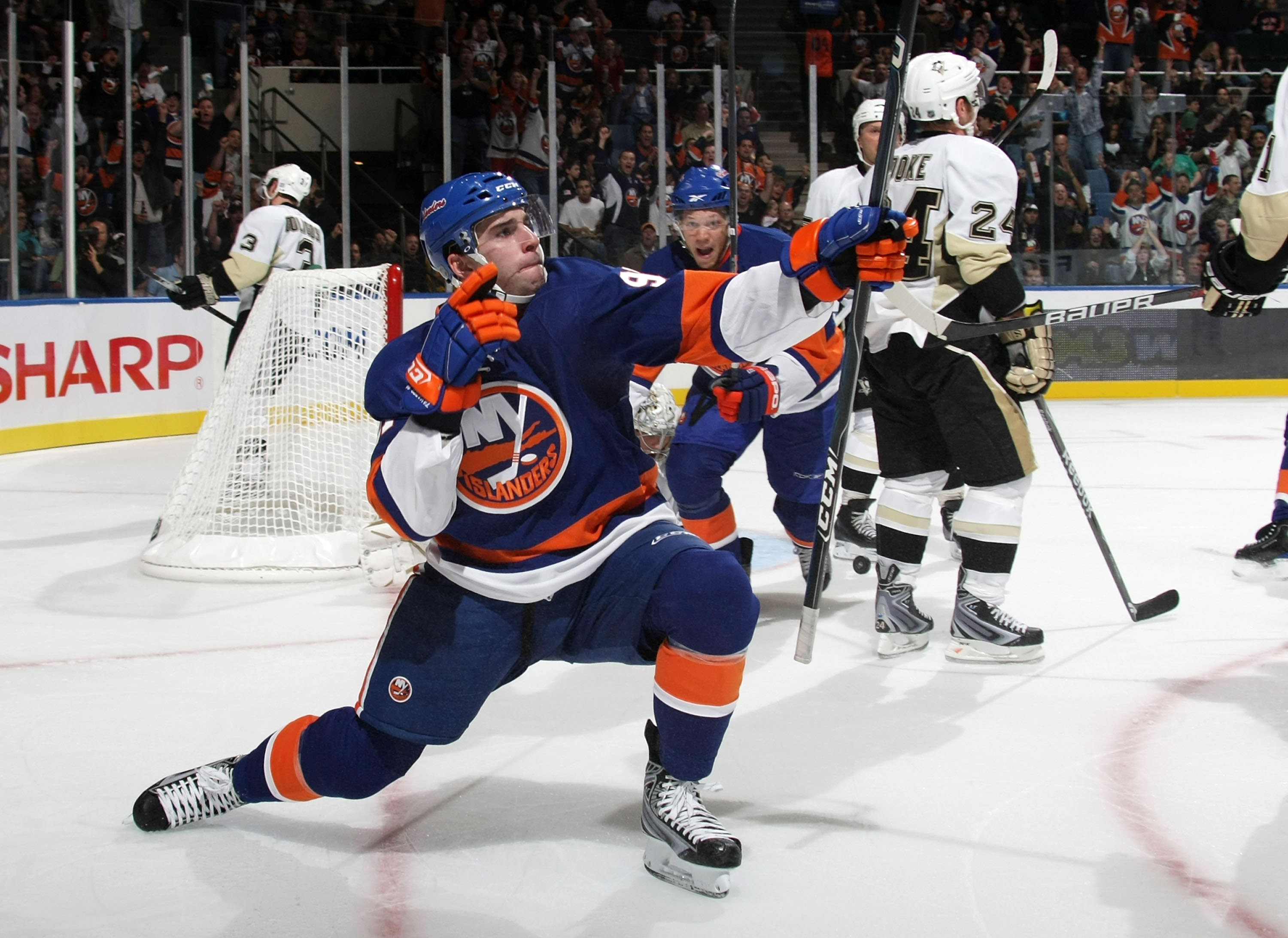 Bruce Bennett was in the perfect spot to capture John Tavares' first NHL goal. (Getty Images/Bruce Bennett)