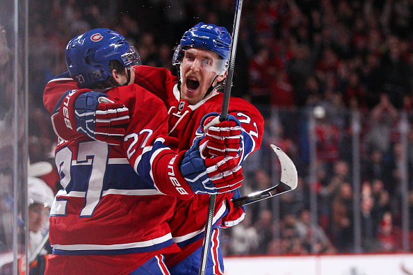 MONTREAL, QC - NOVEMBER 22: Alex Galchenyuk #27  and Dale Weise #22 of the Montreal Canadiens celebrate a goal in the NHL game against the New York Islanders at the Bell Centre on November 22, 2015 in Montreal, Quebec, Canada.</p /> </a></div></p><!-- google_ad_section_end --></div>     <div class=