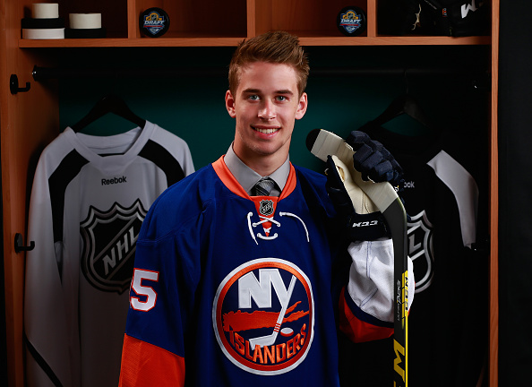 SUNRISE, FL - JUNE 27:  Parker Wotherspoon poses for a portrait after being selected 112th by the the New York Islanders during the 2015 NHL Draft at BB&T Center on June 27, 2015 in Sunrise, Florida.  (Photo by Jeff Vinnick/NHLI via Getty Images)