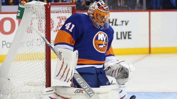 Jaroslav Halak, October 2016 - Islanders vs Capitals tonight in Brooklyn