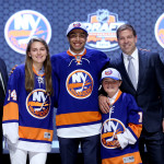 PHILADELPHIA, PA - JUNE 27:  Joshua Ho-Sang is selected twenty-eighth by the New York Islanders in the first round of the 2014 NHL Draft at the Wells Fargo Center on June 27, 2014 in Philadelphia, Pennsylvania.  (Photo by Bruce Bennett/Getty Images)